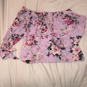 EXPRESS Off the Shoulder Flowy Top XS
